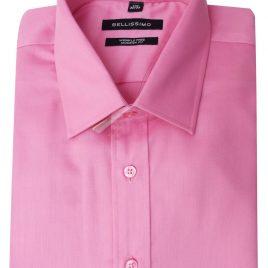 Bellissimo Pink Longsleeve Moder Fit Sateen Shirt