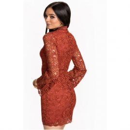 Miss Selfridge Lace Long Sleeves Party Dress
