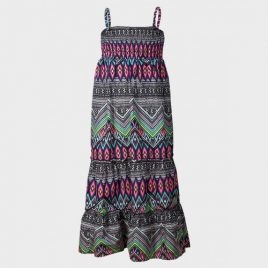 Ex Chainstore Multi Pattern Maxi Dress
