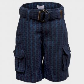 Joe Fresh Belted Shorts in amazing patterned Navy Colour