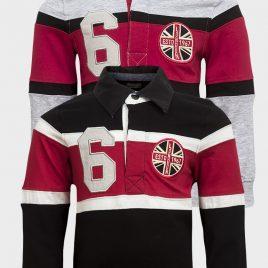 Life & Legend Boys Stripe Polo Longsleeves Shirt