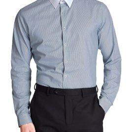 M&S Cotton Rich Slim Fit Long Sleeve Shirt