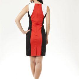 Ex Chainstore Orange Block Ladies Dress