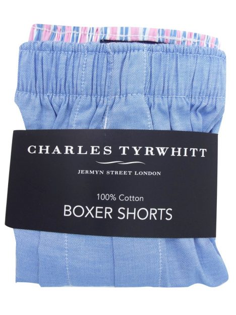 Charles Tyrwhitt SKY Pure Cotton Woven Boxers