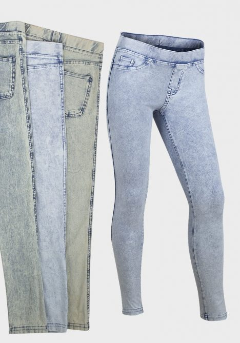 Ex UK Chainstore Girls Shades of Denim Jeggings
