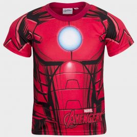 Iron Man Boys Printed Tee Shirt in Red
