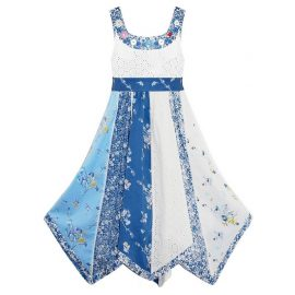 Domino Girl Large Button Floral Print Flare Dress 2