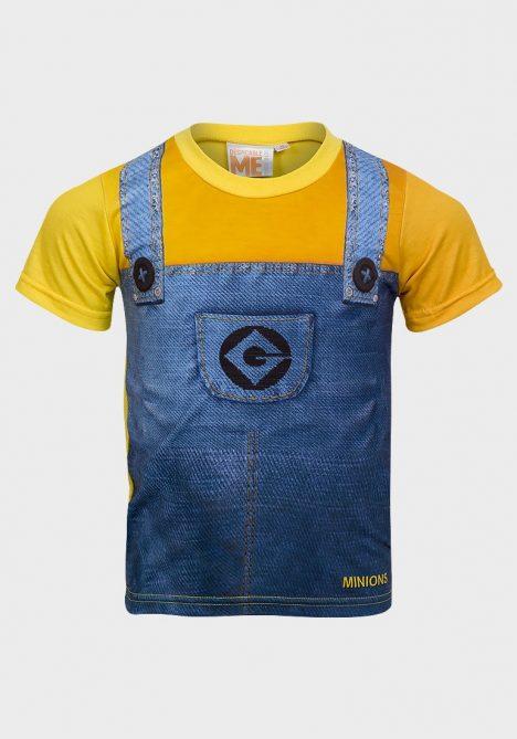 Minions Boys Printed Cotton T-Shirt