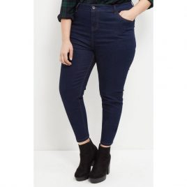 New Look Inspire High Waisted Navy Blue Denim Skinny Jeans