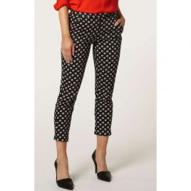 Ex Dorothy Perkins Printed Cigarette Trousers