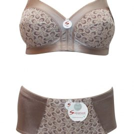 Honeycomb Lace Full Cup Support Bra + Matching Control Briefs
