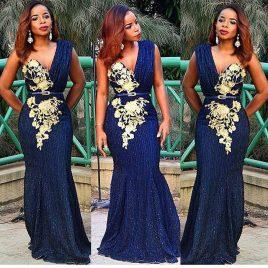 Tiqqette One Shoulder Fancy Full Gown Lace Dress