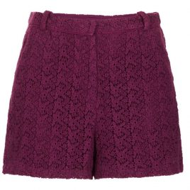 Topshop WINE Crochet Lace Shorts