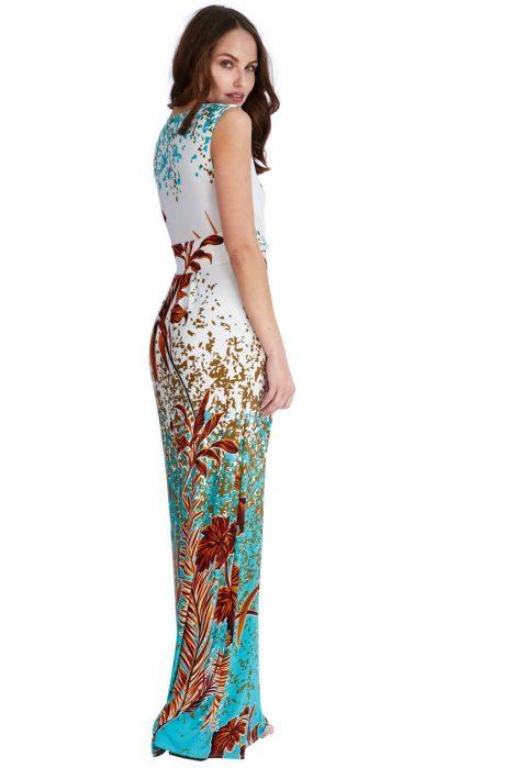 Goddiva Exotic Print Maxi Dress 1