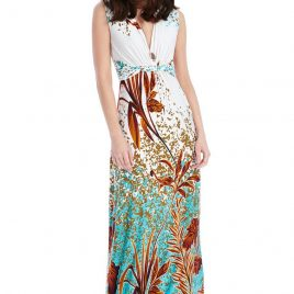 Goddiva Exotic Print Maxi Dress