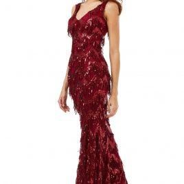 38729adb50 Goddiva Sequin Flapper Tassel Maxi Dress