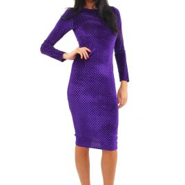 Lili London Embossed Velour Midi Dress