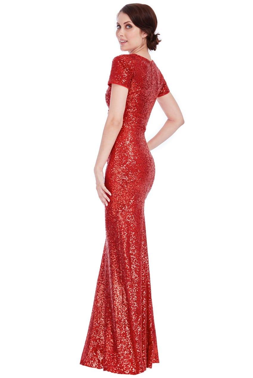 35dbf77609 Goddiva Sequin Portrait Neckline Maxi Dress - Tiqqette Collection