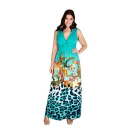 Goddiva Plus Size Gradient Maxi Dress