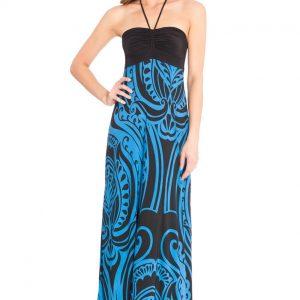Goddiva Halter Neck Print Maxi Dress
