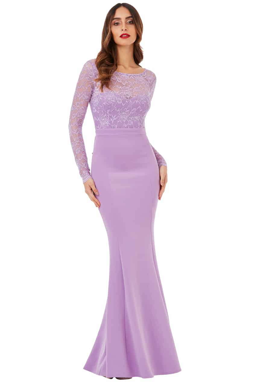 94ef55c736c Goddiva Open Back Lace Maxi Dress with Bow Detail - Tiqqette Collection