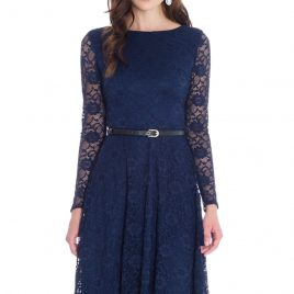Goddiva Day Plus Evening Lace Dress