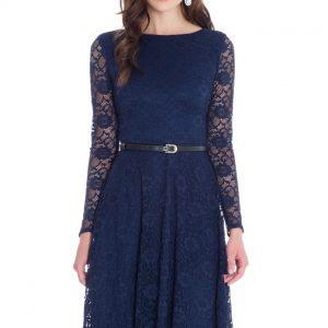 Goddiva Day Plus Evening Lace Dress