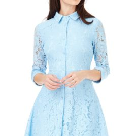 Goddiva Tall - Lace Shirt Dress