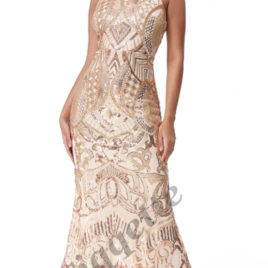 Goddiva High Neck Sequin Maxi Dress