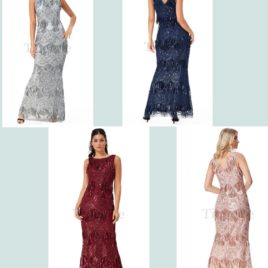 Goddiva Sequin and Lace Maxi Dress