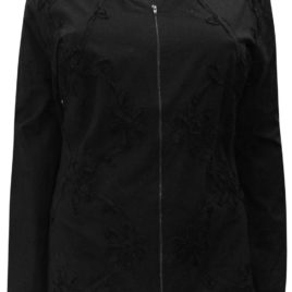 M&S BLACK Cornelli Cotton Zip-Through Jacket