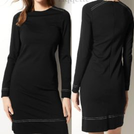 M&S BLACK Long Sleeve Shift Dress