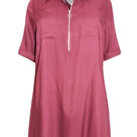 Cellbes WINE Woven Zip Front Tunic
