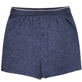 F&F BLUE-MARL Pure Cotton Stripe Waist Boxers